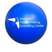 Solid Colored Blue Stress Ball